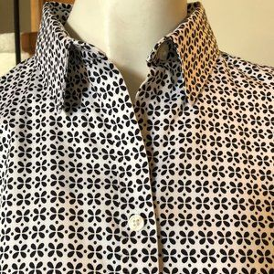 Banana Republic Non-Iron Fitted Shirt Blk/Wh Sz12
